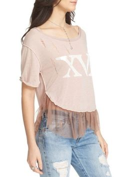 Free People Mauve Tear It Tee Shirt Size 12 (L). Free shipping and guaranteed authenticity on Free People Mauve Tear It Tee Shirt Size 12 (L)Free People Tear It Up Tee  Size Large - Pink - Ne...