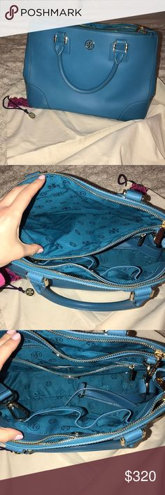 """Tory Burch """"Robinson Double-zip Tote"""" 2 years old, perfect condition Tory Burch Bags Totes"""