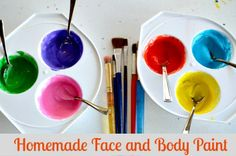 Any painting activity with the kids become a full body experience right? Kids paint their faces, arms and legs and what not? So when  I came across this homemade facepaint paint recipe from a famil...