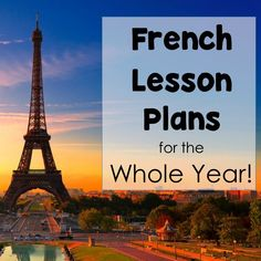 French Lesson Plans, Games, Activities to use all year long