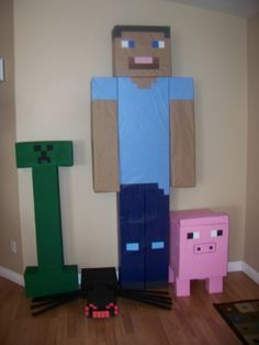 A Boy's 10th Minecraft Birthday Party Video Game Crafts, Video Game Party, Party Games, Minecraft Birthday Party, Boy Birthday Parties, Birthday Bash, Birthday Ideas, Minecraft Decorations, Minecraft Ideas