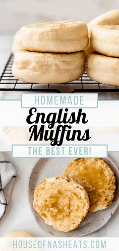 Homemade English Muffins are one of my favorite go-to breakfast breads. They're made with an easy yeast dough, excellent when toasted on the griddle, and full of all the nooks and crannies you crave! These easy English Muffins from scratch are the perfect way to start off your day, so give this homemade English muffins recipe a try today!   homemade english muffin recipe   homemade english muffin bread   english muffin recipe ideas English Muffin Recipes, English Muffin Bread, Homemade English Muffins, Best Breakfast Recipes, Instant Yeast, Salted Butter, Biscuit Recipe, Nooks, Cravings