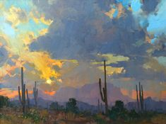 Bill Cramer, Vintage Sunset, oil, 18 x 24.