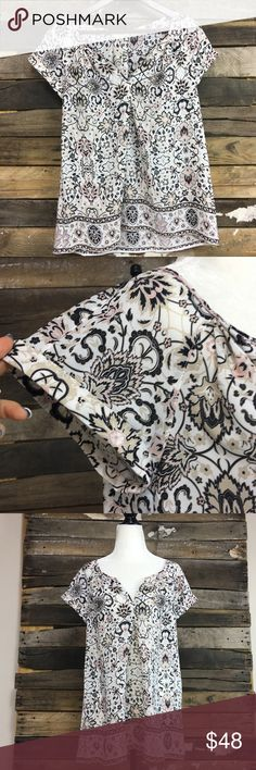 """NWT Max Studio Paisley Print Top Brand new with tags!! Size small. Could fit Medium as well for a more fitted look. Please check measurements. 100% Polyester. Measurements: Pit to Pit 20"""" and Length 26"""" Max Studio Tops Blouses"""
