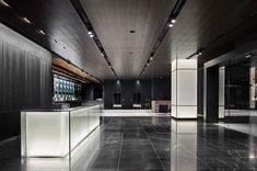 Australian Interior Design, Interior Design Awards, Lobby Interior, Interior Lighting, Modern Interior Design, Interior Architecture, Office Entrance, Office Lobby, Counter Design