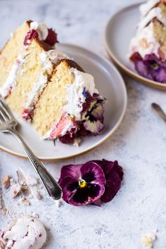 Coconut Eton Mess Cake with Whipped Ricotta Cream + Video. Eton Mess Cake, Tall Cakes, Spring Cake, Munnar, Amazing Wedding Cakes, Half Baked Harvest, Cake Board, Round Cake Pans, Cake Decorating Tips