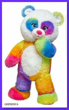 Build a Bear Pop of Color Rainbow Panda Teddy 16 In. Plush Toy Animal for sale online Toys For Girls, Kids Toys, Custom Teddy Bear, Pets For Sale, Cute Teddy Bears, Build A Bear, Animal Quotes, Cool Pets, Toy Store