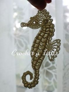 Seahorse Bookmark FREE Crochet Pattern