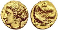 Dionysius I (406-367 BC). 100 litrae (Attic standard), c.405-400 BC, Ancient Greece, Sicily.