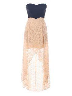 Lace High Low Dress