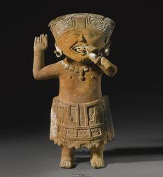 A Veracruz Figure, Mexico, Late Classic, Terracotta/Ceramic