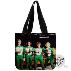 5 Seconds Of Summer Ninja Turtles New Hot, handmade bag, canvas bag, tote bag