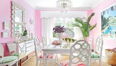Behind a tidy wall of ficus hedges, designer Mary McGee awakens a Mediterranean-style manse in Palm Beach, proving that the spirit of Old Florida is still very much alive, and it has plenty of colorful tricks up its sleeve. Beach Cottage Style, Beach Cottage Decor, Coastal Style, Coastal Decor, Coastal Living, Coastal Homes, Cottage Ideas, Palm Beach Decor, Tropical Home Decor