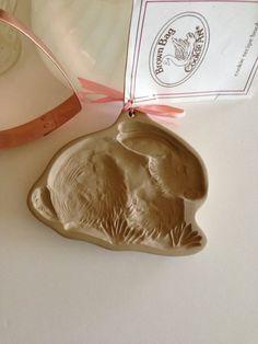Cookie Mold Brown Bag Cookie Art Rabbit Bunny 1983 by missenpieces, $22.00