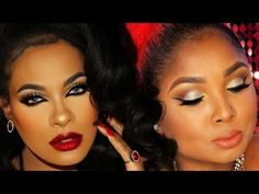 Fierce Holiday Makeup - Collab with Queenii Rozenblad - YouTube