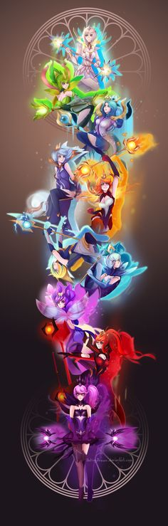 Elementalist Lux all Forms