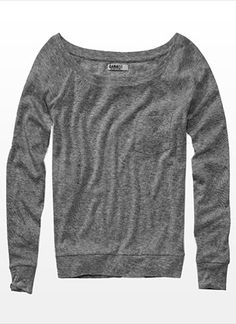 Previous Next Off the Shoulder Long Sleeve Pocket Tee $26.90