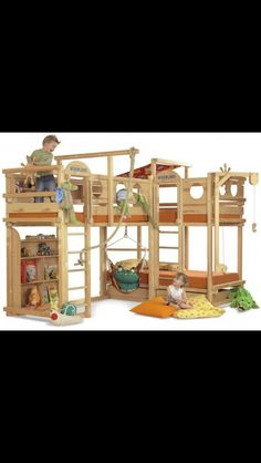 Triple bunk beds - I like the two up top and one on the bottom combo.