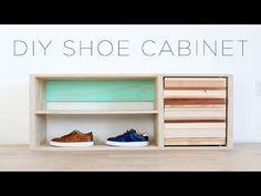 DIY Shoe Storage Cabinet - YouTube