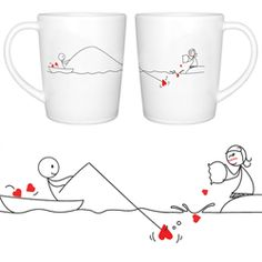 Catch My Heart Coffee Mugs | Buy gift that make you zmile! :) $27