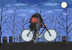 Photoshop Friday: The Headless Bike-man. Happy early Halloween...