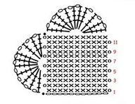 * Mare * ka-to: crochet heart . Crochet Motifs, Crochet Diagram, Crochet Stitches Patterns, Crochet Chart, Crochet Squares, Crochet Doilies, Crochet Flowers, Knit Crochet, Crochet Vintage