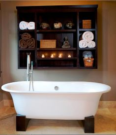 Looking for Asian Bathroom ideas? Browse Asian Bathroom images for decor, layout, furniture, and storage inspiration from HGTV. Asian Bathroom, Bathroom Spa, Bathroom Storage, Master Bathroom, Bathroom Ideas, Relaxing Bathroom, Bathroom Designs, Bathroom Organization, Chinese Bathroom