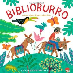 Luis loves to read, but soon his house in Colombia is so full of books there's barely room for the family... A colorful, beautifully illustrated book, with a wonderful, true, inspirational story of a man who brings books to other neighboring villages in Columbia.