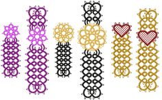 Free Tatting Patterns and Images | Tatting 25 - Bookmark Tatting Designs by Murphy