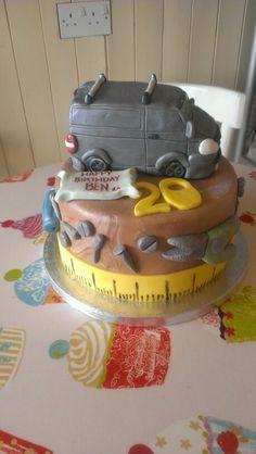 Carpenter themed cake with VWVan