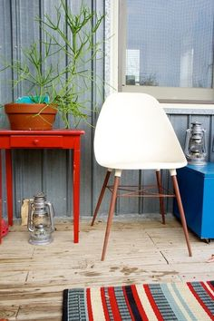 Loving brightly painted furniture at the moment