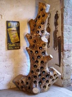 25 of Our Favorite Wine Racks- 25 of Our Favorite Wine Racks reclaimed-wood-rack-and-ruin - Wood Rack, Wood Wine Racks, Driftwood Projects, Got Wood, Log Furniture, Wine Bottle Holders, Diy Bar, Wood Creations, Woodworking Projects