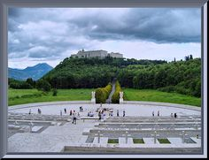 Montecassino....view from the Polish cemetary  cemetary for all of the Polish soldiers who fought and died in Italy during WW2