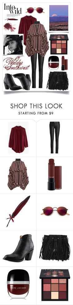 """""""Wilder Southwest:  Desert Chill"""" by wildersouthwest ❤ liked on Polyvore featuring Anja, Madewell, Ralph Lauren, Burberry, MAC Cosmetics, Fountain, Ray-Ban, Lucchese, STELLA McCARTNEY and Marc Jacobs"""