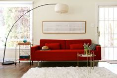 Loving the red couch - Beautiful POP of color. - Musical & Modern in Los Angeles — Professional Project