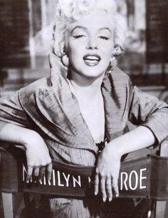 Marilyn Monroe in her chair.