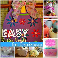 Easy Easter Crafts that are very Family Friendly from  www.DivineSavings.com