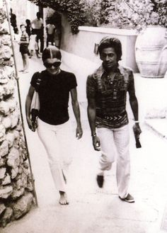 Valentino and Jackie Kennedy - Capri,1970