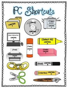 Keyboard Shortcuts for PC - Olivia Brown - Keyboard Shortcuts for PC Teaching Technology - PC Keyboard Shortcuts I have not thought about teaching shortcuts but maybe my graders could do it and like it? This visual would greatly help! Computer Lab Decor, Computer Lab Lessons, Computer Lab Classroom, Computer Teacher, Computer Class, Technology Lessons, Teaching Technology, Computer Technology, Educational Technology