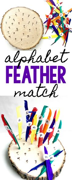Thanksgiving Alphabet Feather Match