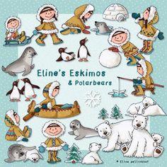 Eline's Digital ClipArt Set - Eline's Eskimos & Polar Bears