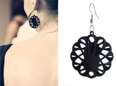3D printed earrings Shapeways.Join the 3D Printing Conversation: http://www.fuelyourproductdesign.com/