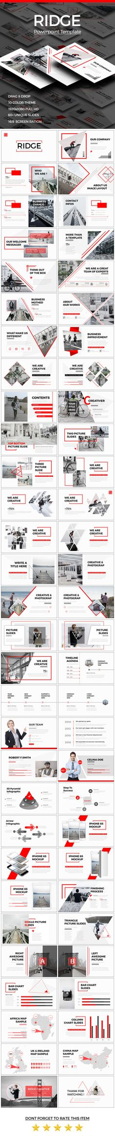 RIDGE CREATIVE Powerpoint Template  #enterprise #excel • Download ➝ https://graphicriver.net/item/ridge-creative-powerpoint-template/18188658?ref=pxcr
