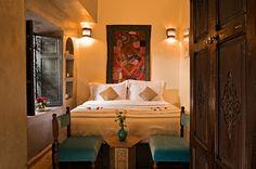 The luxurious Jasmine room at Marrakech Riad Papillon