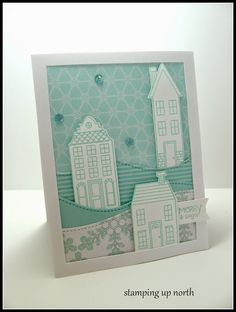 stamping up north, Christmas card,Stampin Up Holiday Home bundle