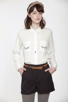 simple DIY idea! eyes on a shirt pocket!