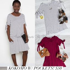 How cute is this Amelia James Kokomo Dress! First of all it had POCKETS! Second it has these super cute ties on the arms to make into bows. The Kokomo is currently available in sizes XS-4XL