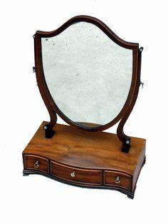 Antique Mahogany Georgian Dressing Table Toilet Mirror