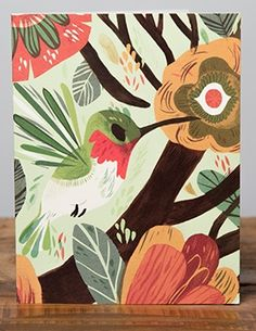 The Hummingbird| Red Cap Cards | Illustrated greeting card by Meg Hunt