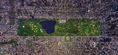 Incredible aerial photos of the worlds greatest cities and sights // Central Park in Manhattan